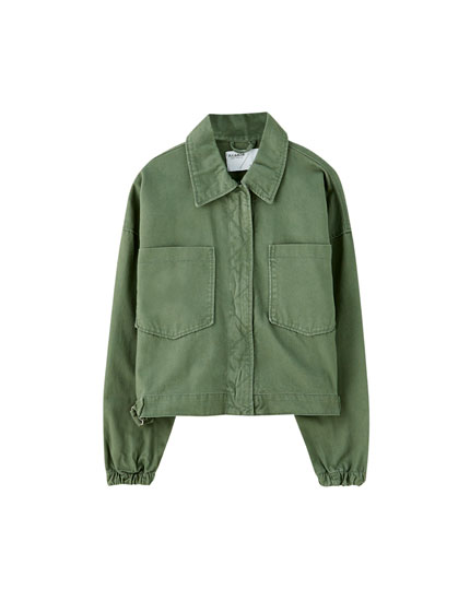 Classic khaki jacket with pockets