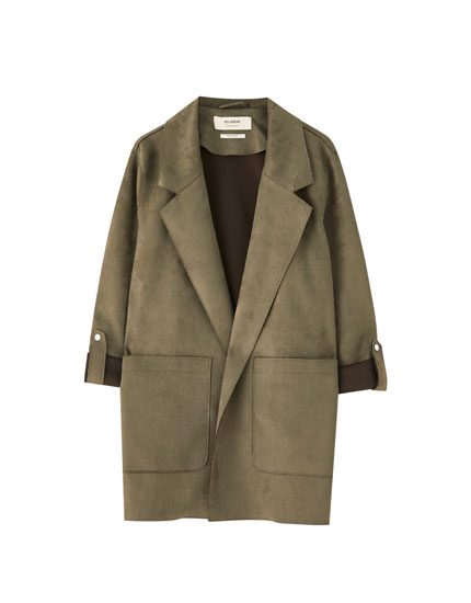 Manteau long similidaim