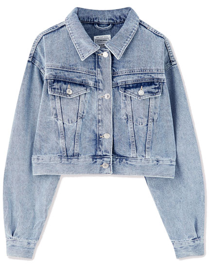 Denim jacket with yoke detail