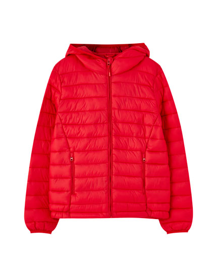 Basic nylon puffer jacket