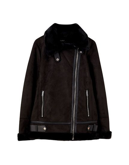 Black double-faced jacket