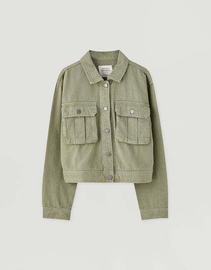 Cotton khaki jacket