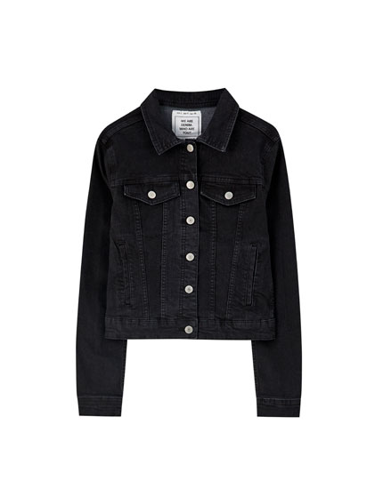 Fitted basic denim jacket
