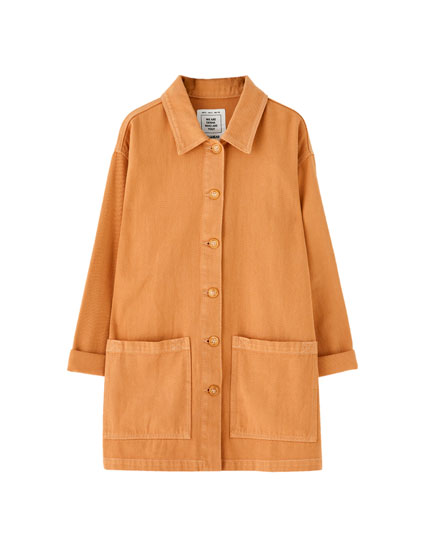 Basic ochre carpenter jacket