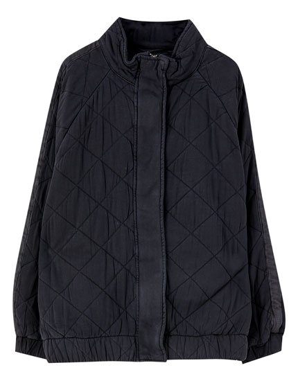 Faded-effect puffer jacket