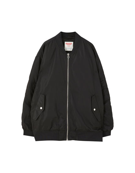 Black Stranger Things 3 bomber jacket