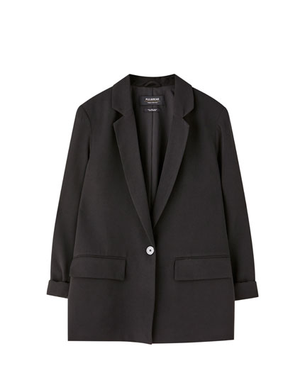 Flowing single-button blazer