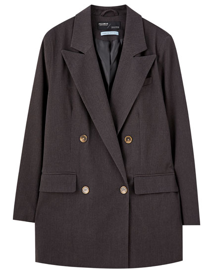 Long four-button blazer