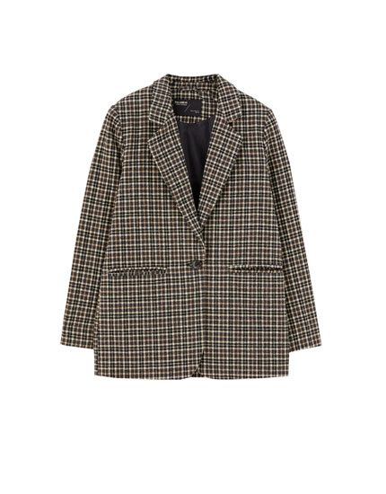 Basic synthetic wool blazer