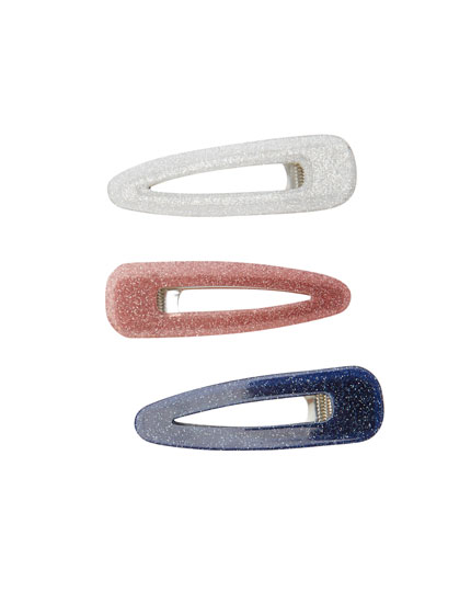 3-pack of glittery hairslides