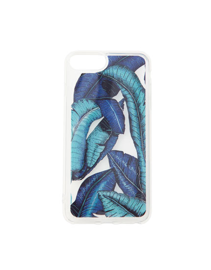 Transparent leaf design smartphone case