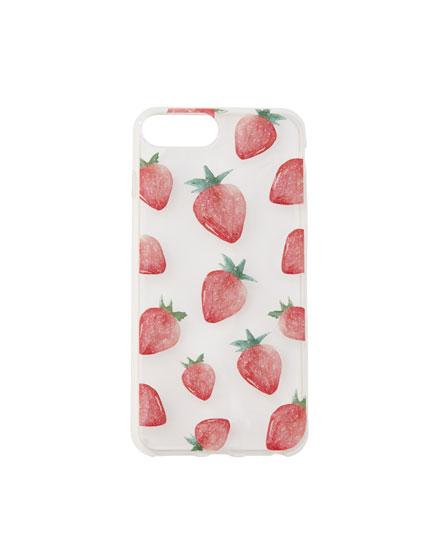 Coque smartphone fraises