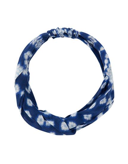 Tie-dye hair tie