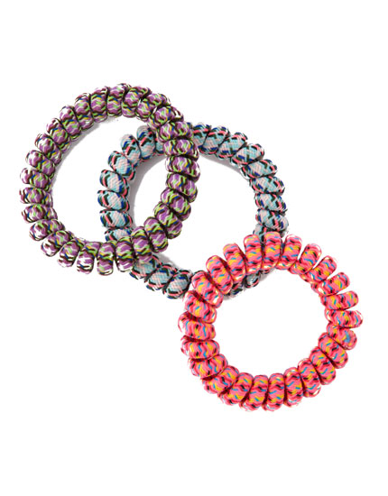 3-pack of coiled hair ties