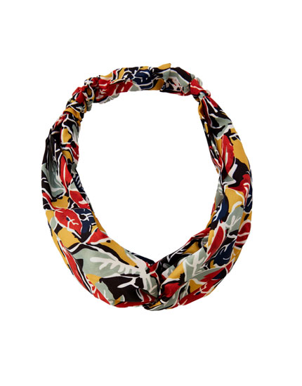 Colourful print headband