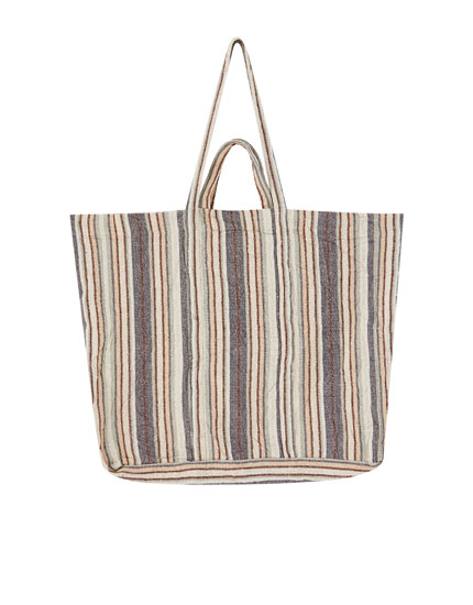 Rustic striped bag