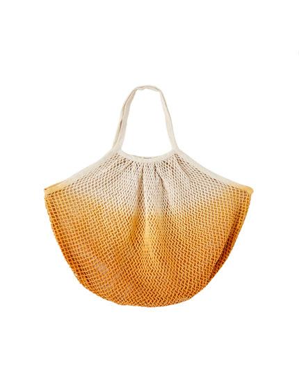 Tie-dye mesh bag