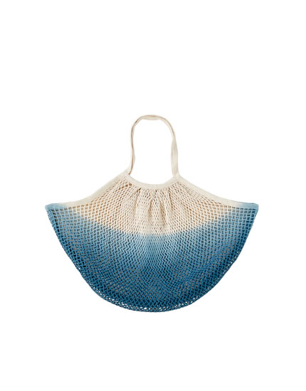 Τσάντα με δίχτυ σε όψη tie-dye