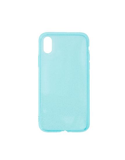 Carcasa smartphone purpurina