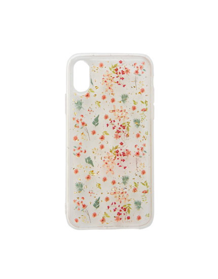 Glittery floral smartphone case