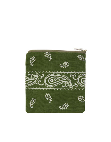 Colourful bandanna purse