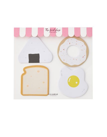 Four pack of food sticky notes