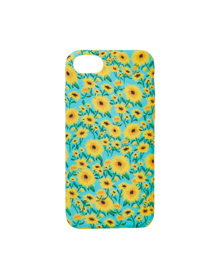 Sunflower print smartphone case