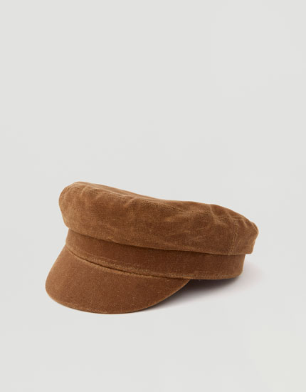 Brown nautical cap