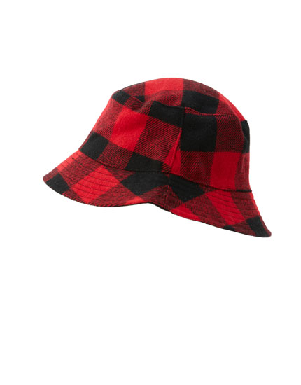 Tartan check bucket hat