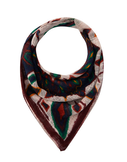 Coloured print bandanna