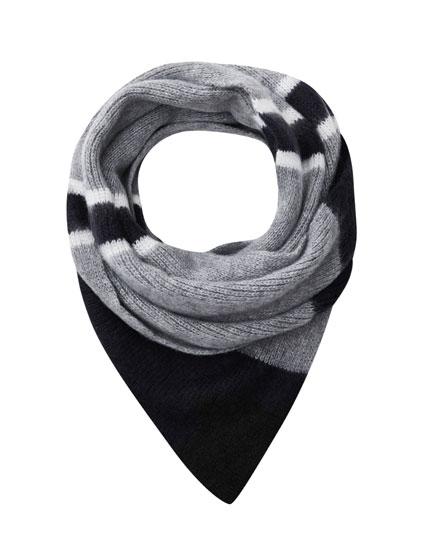 Panelled varsity scarf
