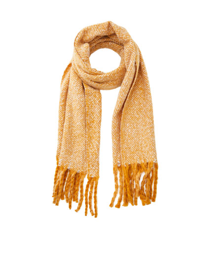 Basic flecked coloured scarf