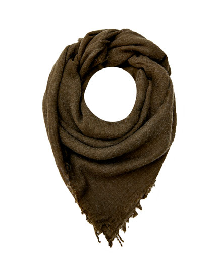 Coloured fine synthetic wool scarf