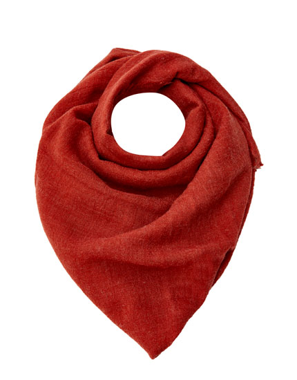 Coloured fine wool scarf