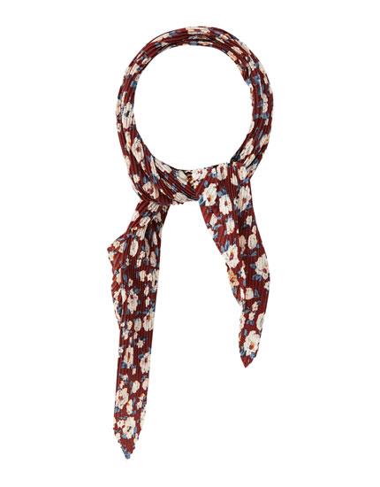 Maroon floral headband