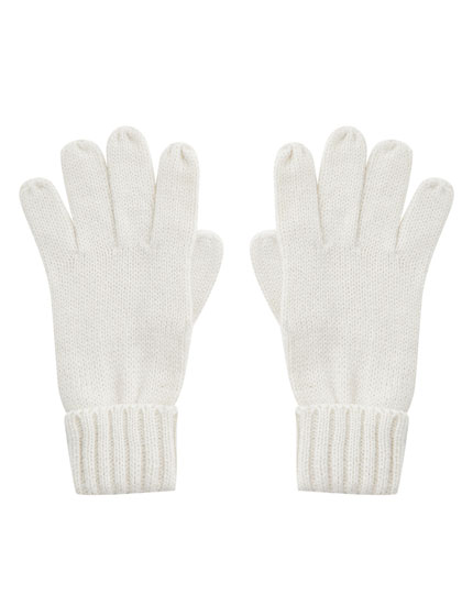 Basic gloves with turn-up cuffs