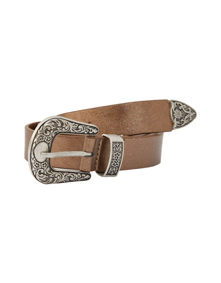 Metallic cowboy belt