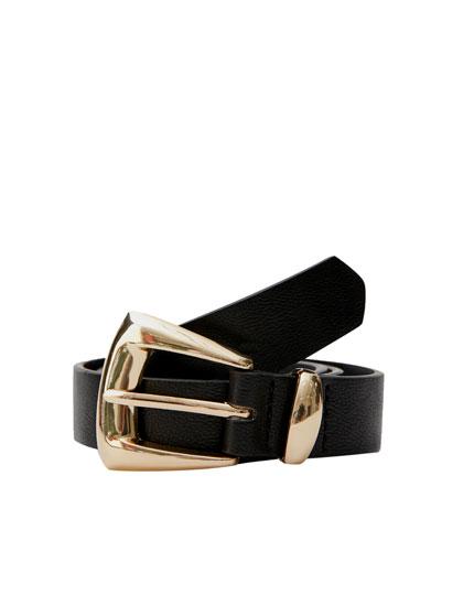 Cinturón negro tipo cowboy