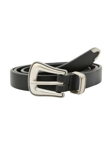 Cinturón fino tipo cowboy