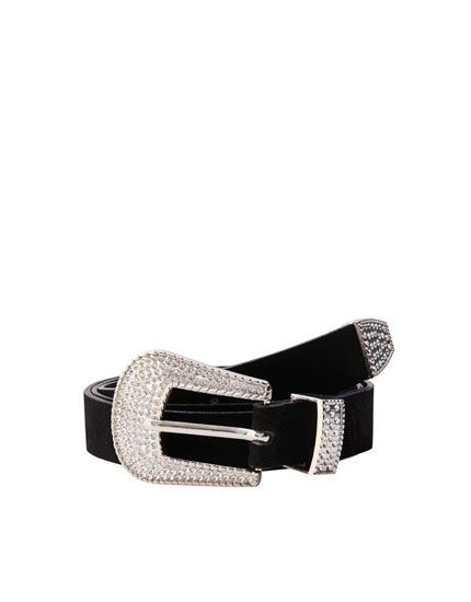Bejewelled cowboy belt
