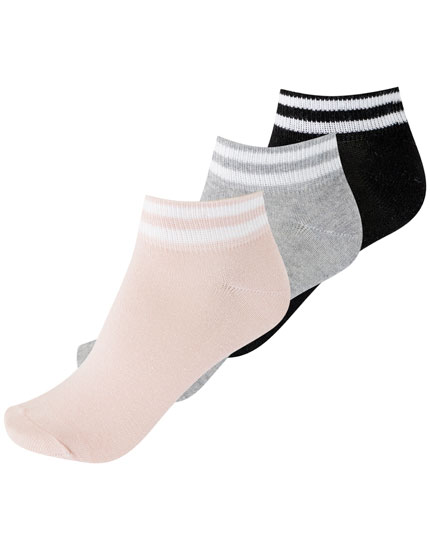 Pack of 3 sporty ankle socks