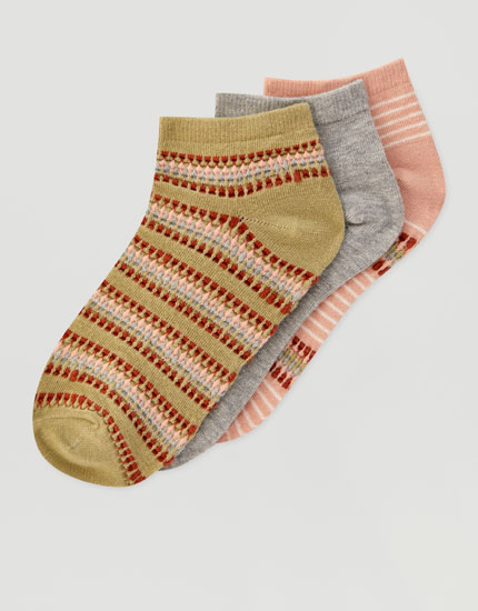 3-pack of colourful socks