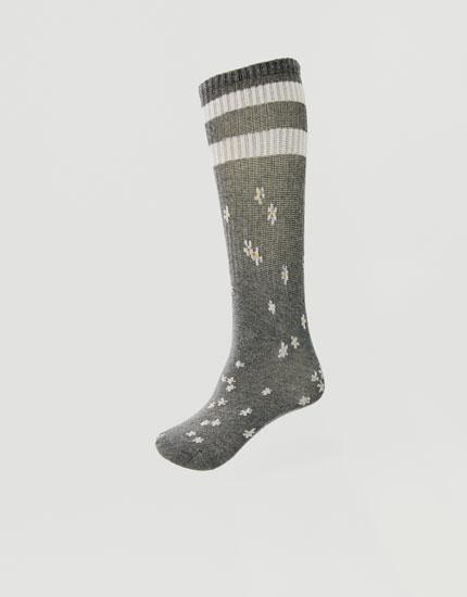 Floral sports socks