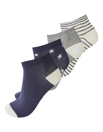 Pack of 4 pairs of star socks