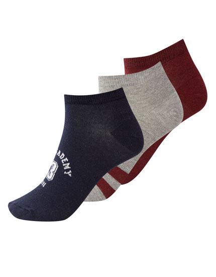 Pack of 3 varsity ankle socks