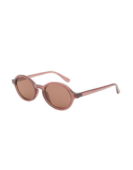 Oval resin sunglasses