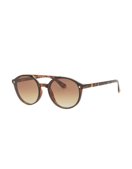 Double bridge aviator sunglasses