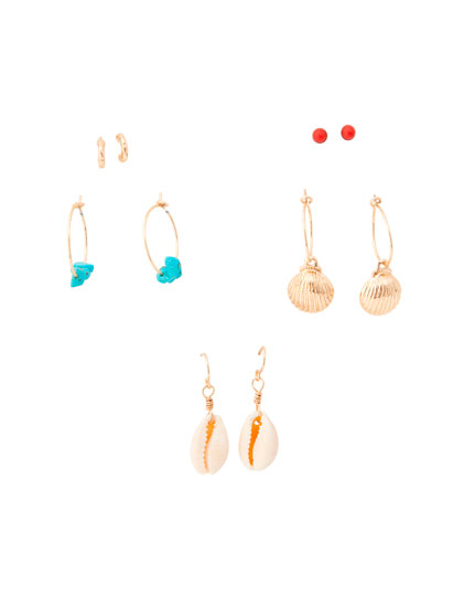 Pack of shell earrings