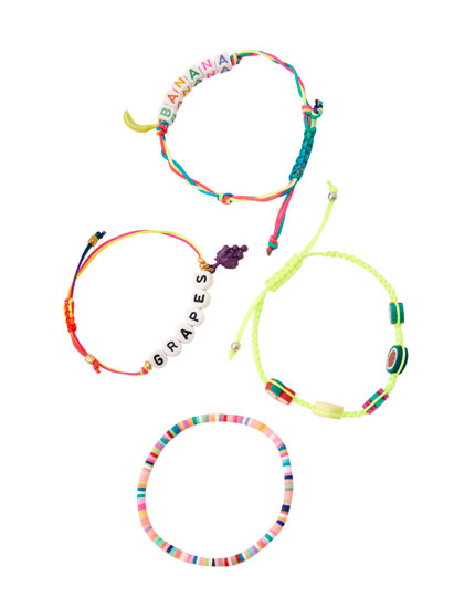 4-pack of fruit bracelets