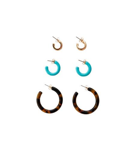 3-pack of embellished earrings